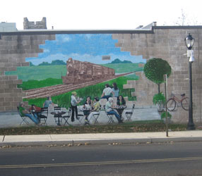 Mural in Lansdale, Montgomery County, PA