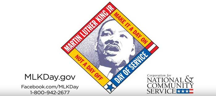 Make it a Day ON, Not a Day Off! There are many ways you can participate in the annual Martin Luther King, Jr. Day of Service. Click here to view local events.